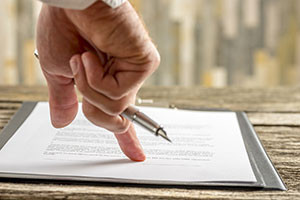 contract review before property auction