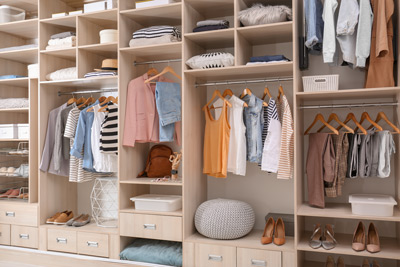 check wardrobe space in your open house inspection